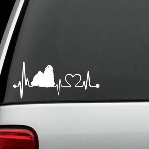 "Shih Tzu - Shih Tzu ""HeartBeat' Exclusive Decal"