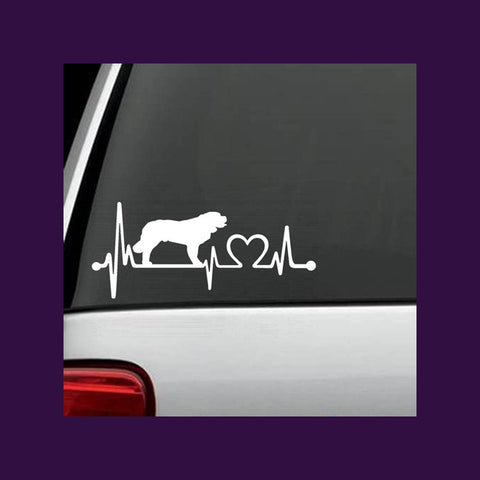 St Bernard Dog Heartbeat Decal