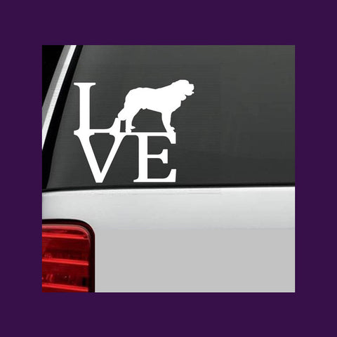 St. Bernard Dog Love LVE Decal