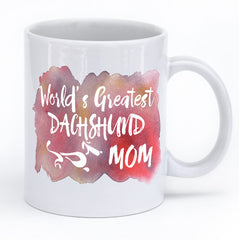 "Dachshund Mug ""Greatest Dachshund Mom and Dad"""