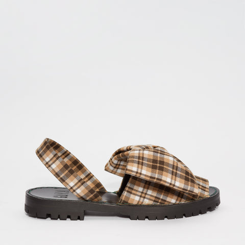 GOYA Avena Plaid Bow Sandals