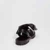 GOYA Black Nappa Bow Leather Sandals