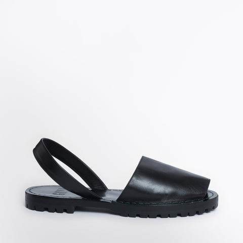 Black Nappa Goya Slide
