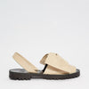 GOYA Crema Nappa Bow Leather Sandals