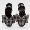 GOYA Gris Plaid Bow Sandals