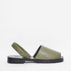 Moss Pebbled Nappa Goya Slide