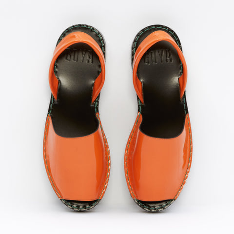 | OFFER | Ochre Patent Leather Goya Slide