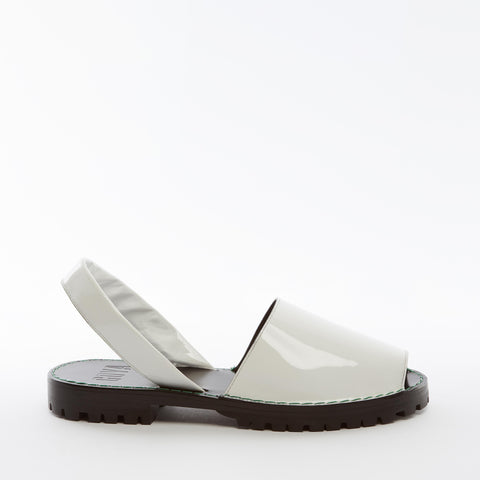 Alabaster Patent Leather Goya Slide