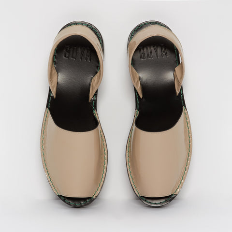 Clay Patent Leather Goya Slide