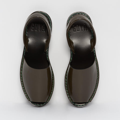 Mud Patent Leather Goya Slide
