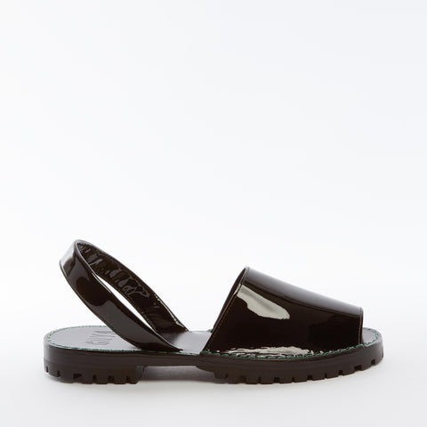 Tar Patent Leather Goya Slide