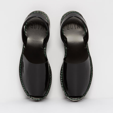 | OFFER | Tar Patent Leather Goya Slide