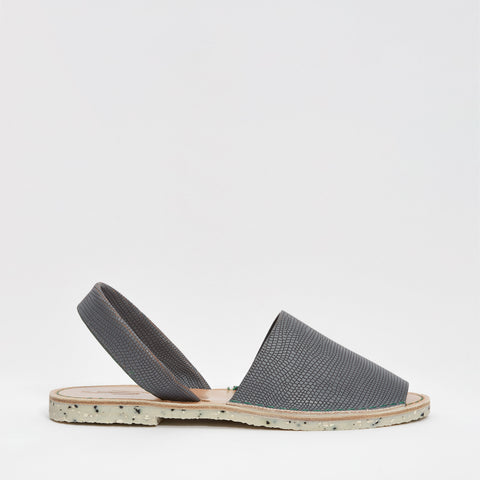 GOYA Playa | Grey Lizard Stamped Leather