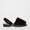 Quilted Black Suede Goya Slide