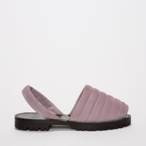 Quilted Lilac Suede Goya Slide