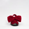 Ruby Red Velvet Bow