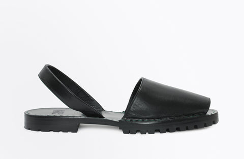 GOYA black nappa slide for men