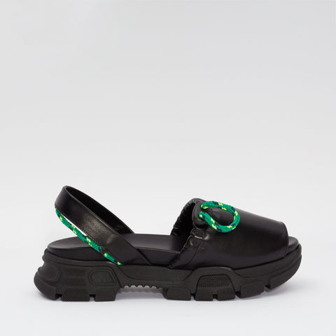 GOYA Black Laces Sporty Sandal
