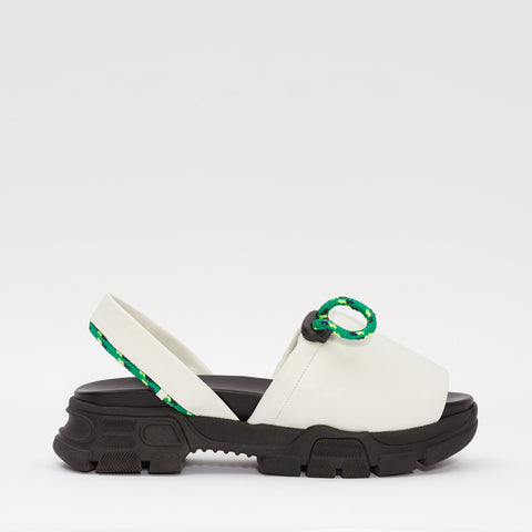 GOYA Ice White Laces Sporty Sandal