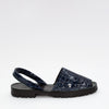 Midnight Blue Patent Croc Slide