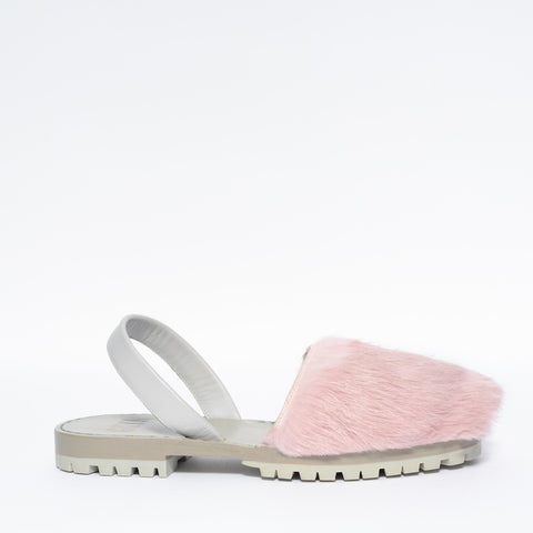 Chiclet Pink Fur Goya Slide