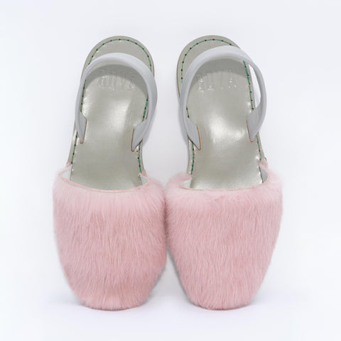 GOYA pink fur slide for women