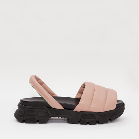 GOYA Gum Pink Quilted Sporty Sandal
