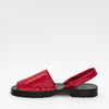 GOYA Ruby Red Patent Croc Slide