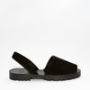 Black Suede Goya Slide