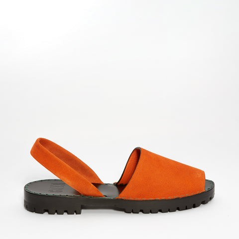 Orange Suede Goya Slide