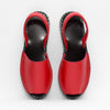 Goya Roja Red Pebbled Nappa Sandal Pair