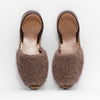 Goya Brown Teddy Shearling Sandal Pair