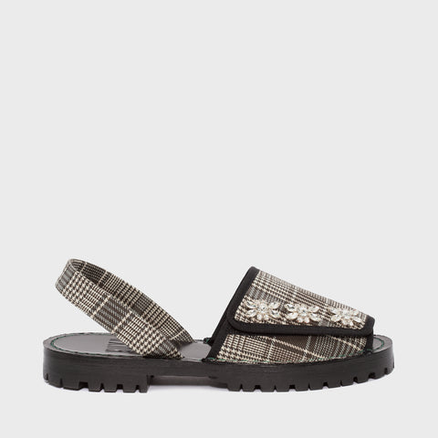 GOYA Velcro Star Crystal Check Sandals