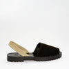 GOYA Black/Beige Bi-Colour Suede Sandals