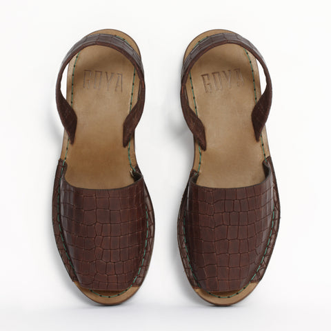 GOYA Crocodilia Marron Sandal
