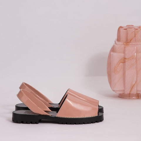Halite Patent Leather Goya Slide
