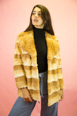 1970s Snow White Rabbit Fur Coat