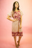 1980s Indian Cotton Rose Dress