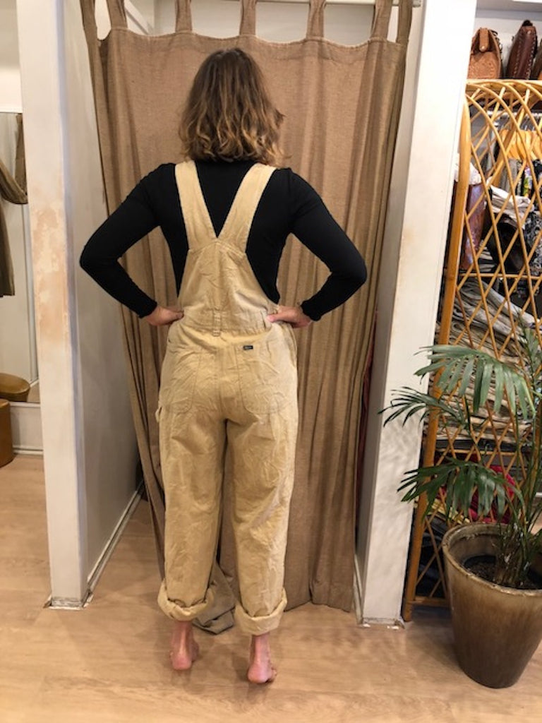 Rare Long Beige Overalls