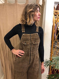 Rare Long Brown Corduroy Overalls