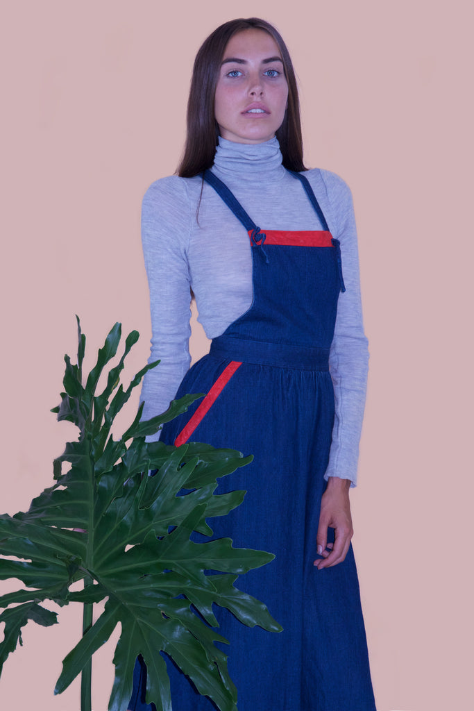 1970s Denim Pinafore