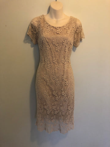 1990s Brown Linen Dress