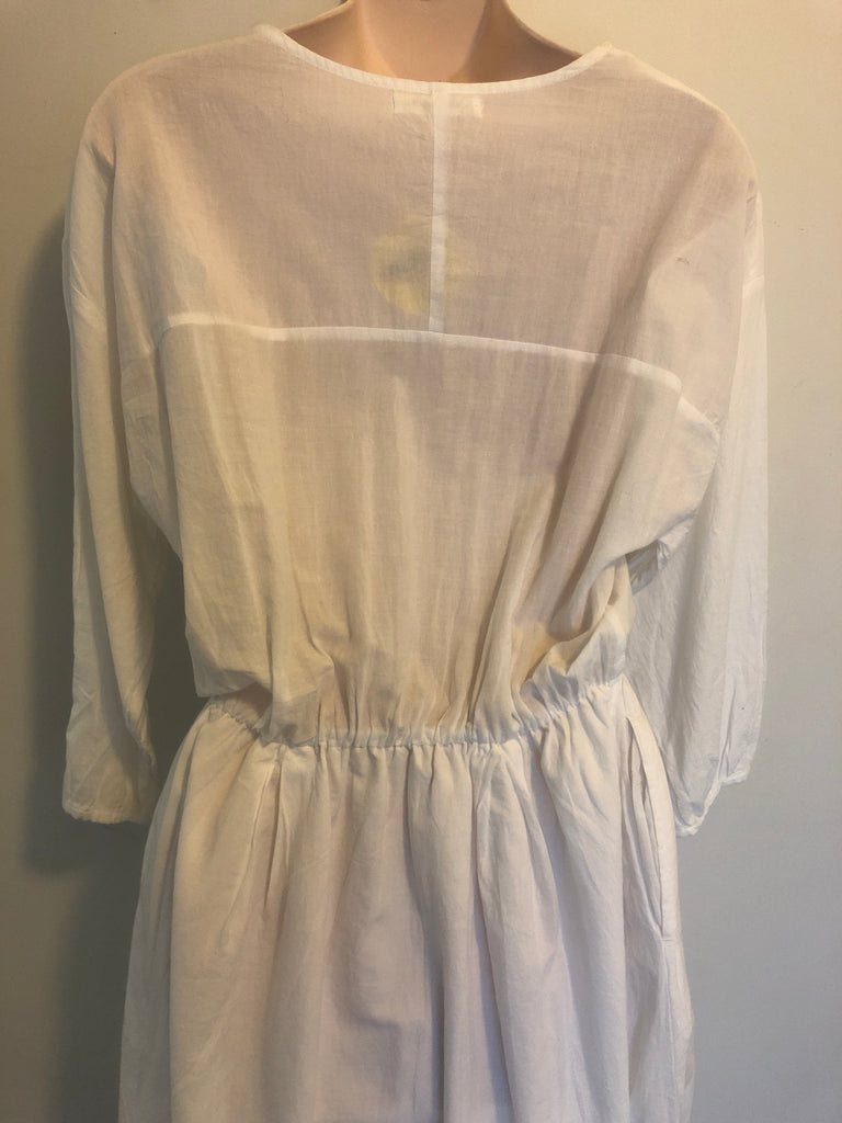 Divine Edwardian style White Cotton Dress