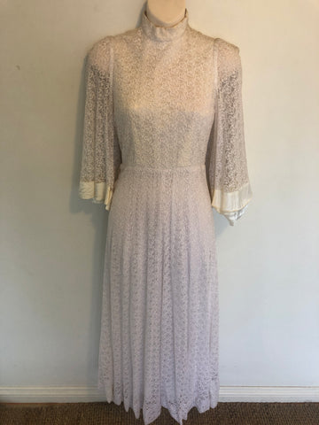 1970s RARE DESIGNER Gerard Saint Albin Paris Balloon Sleeve Dress