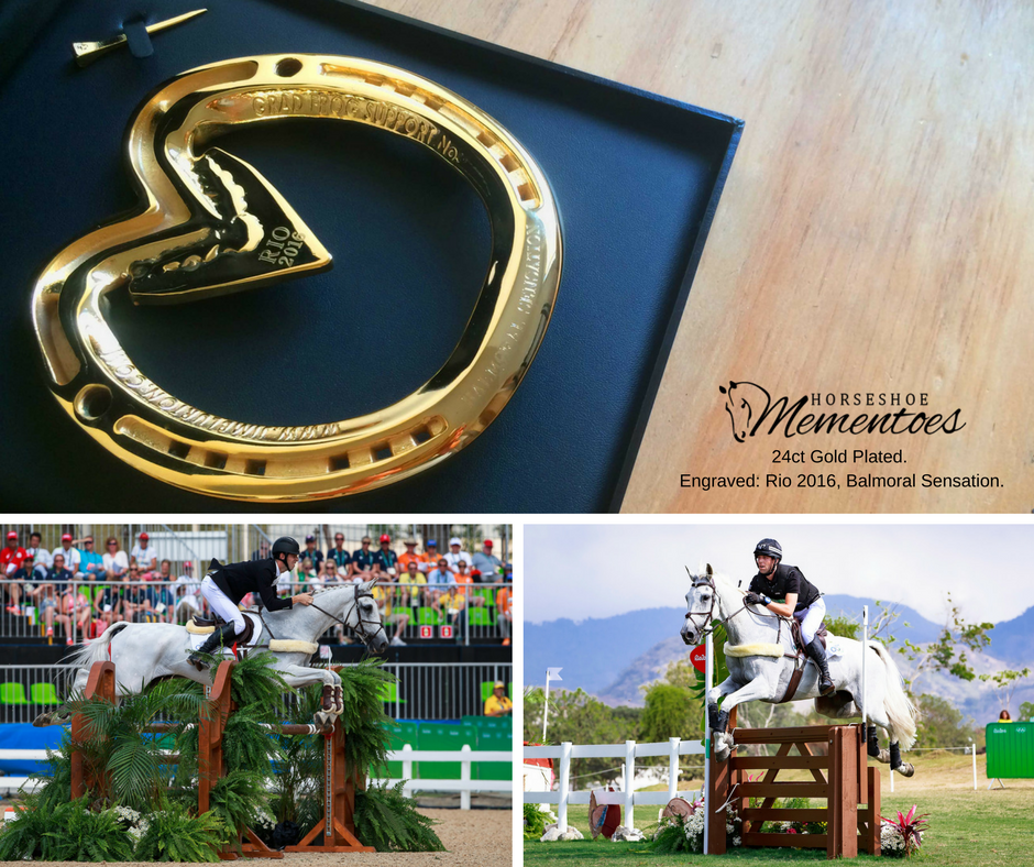 24ct Gold Rio Olympic Horseshoe Memento, Simply Sensational.