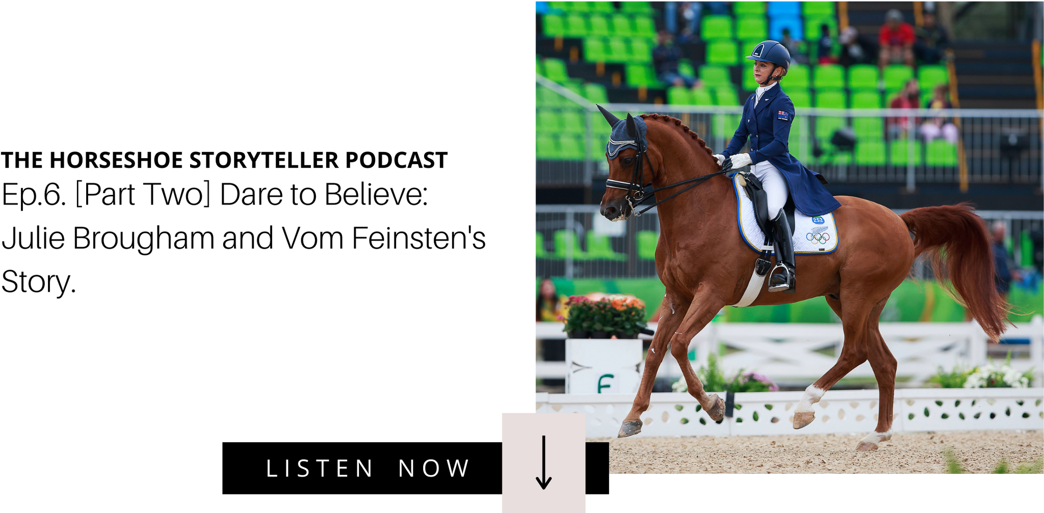 [PART TWO] NZ Dressage Rider Julie Brougham on the World Equestrian Games with Vom Feinsten and Life Today.