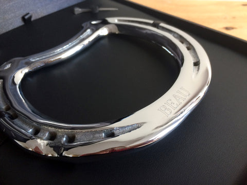 Beau's Chrome Engraved Horseshoe Memento