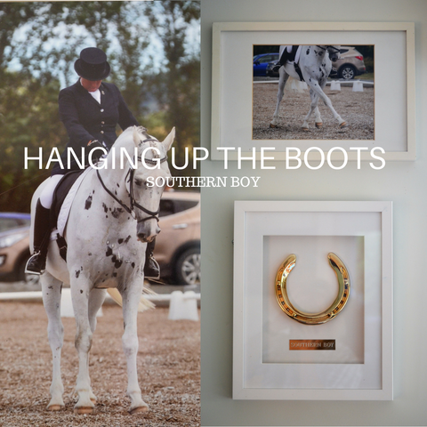 Southern Boy's Retirement Framed Horseshoe Memento