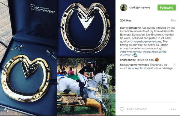 Clarke Johnstone Horseshoe Mementoes Instagram Post