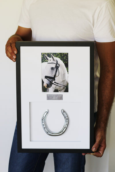 Luke and his Framed Horseshoe Memento